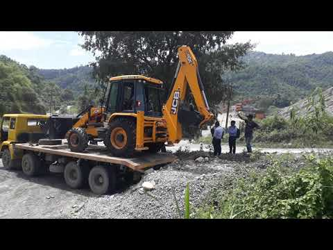 How to unloadding new 3 dx super ( jcb ) in nepal