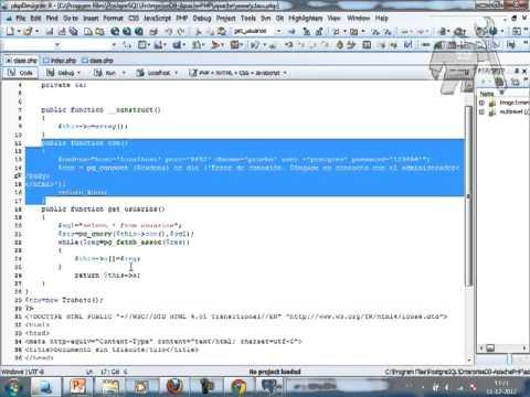 VideoTutorial 5 del Curso de PHP y PostGreSQL
