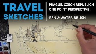 Drawing a One-Point Perspective in Prague