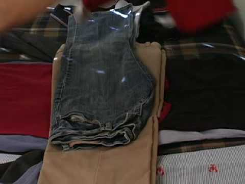 Pack all of your clothes into one suitcase without wrinkles