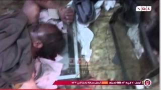 Les corps des martyrs egyptien-le massacre d'Abou-Zaabal brûlés à l'intérieur de la morgue de Zenhom
