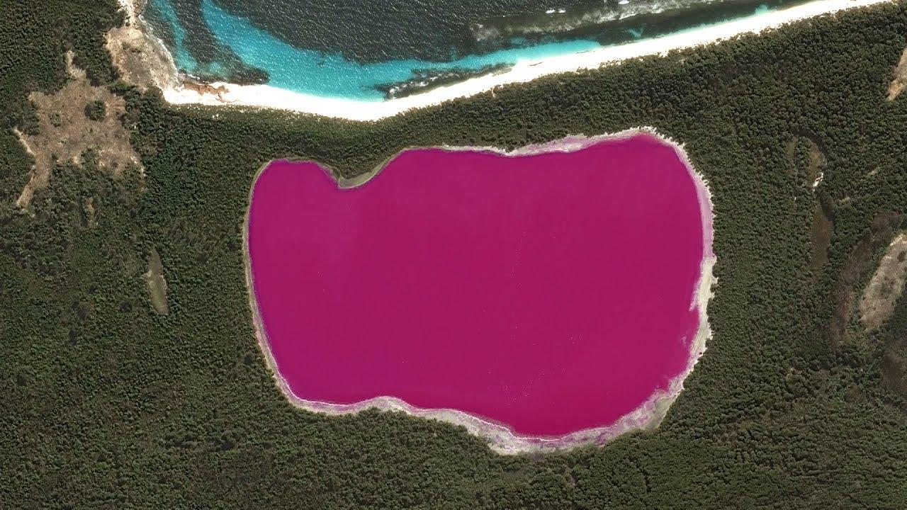 Look At This Bright Pink Lake!