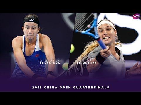 Anastasija Sevastova vs. Dominika Cibulkova | 2018 China Open Quarterfinals | WTA Highlights 中国网球公开赛