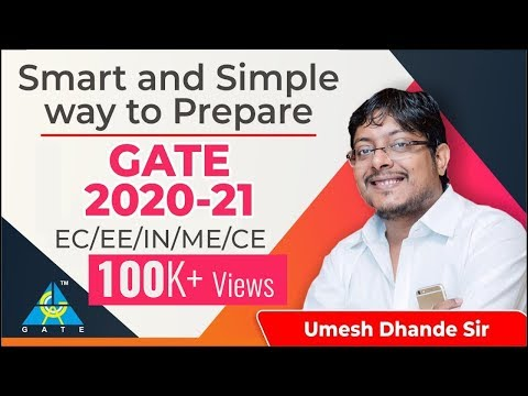 Smart And Simple Way To Prepare GATE 2020-21   EC/EE/IN/ME/CE