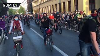 Anti-govt & anti-lockdown | Protesters take to their bikes in Ljubljana