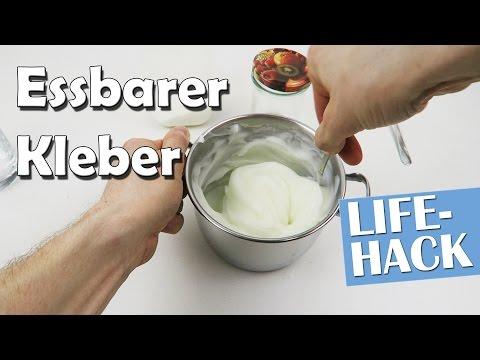 Essbaren Kleber selber machen - Lifehack