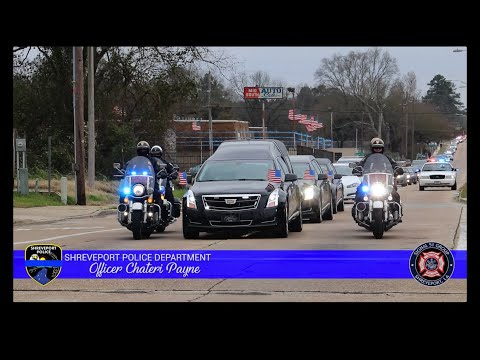 Funeral Procession & Last Call for Shreveport Police Officer Chateri Payne