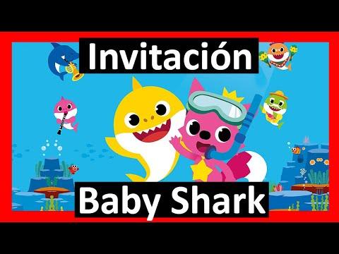 Video Invitación Baby Shark Whatsapp Digital