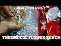 Thermocol flower bunch used in flower girl crown or bouquet!!!