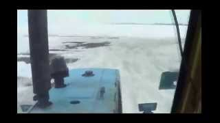 Пуск и езда на тракторе ЮМЗ-6