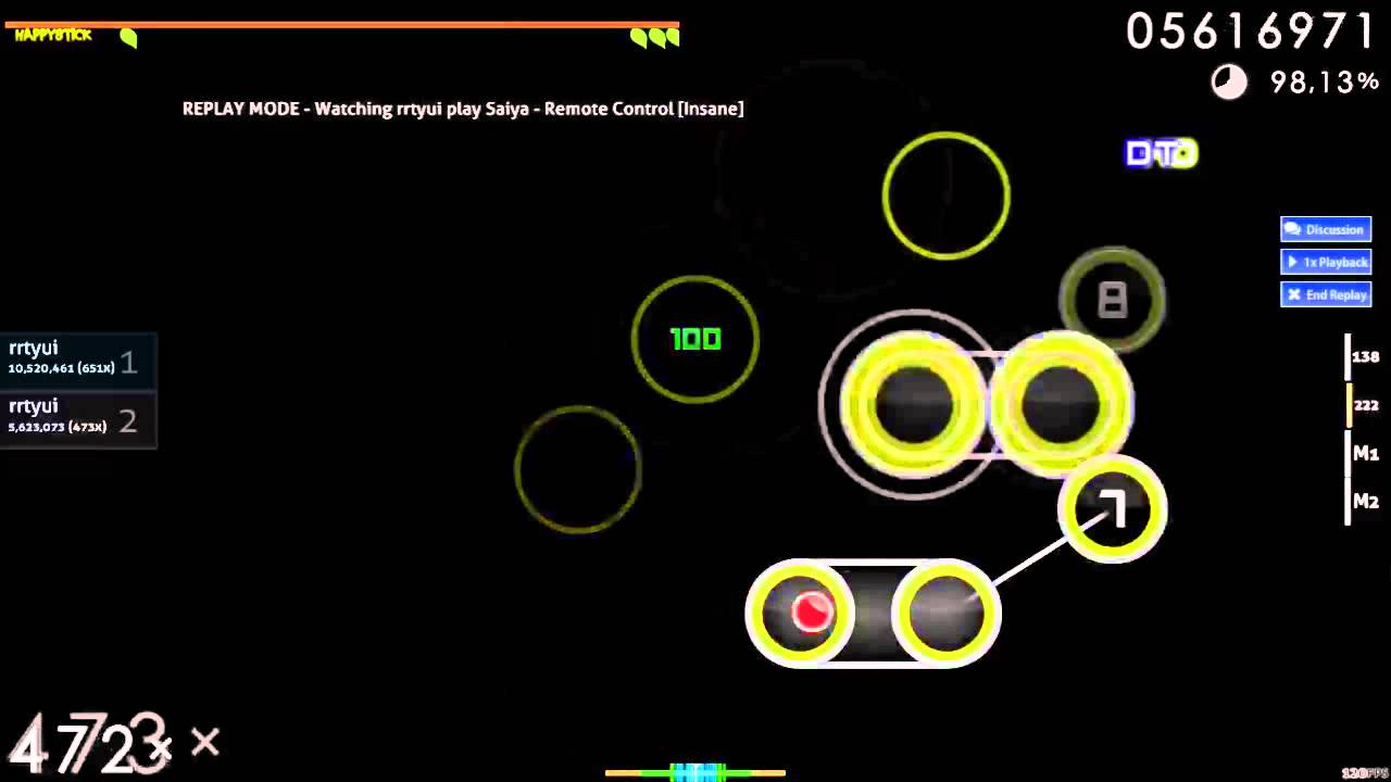 how to play osu with motion controls
