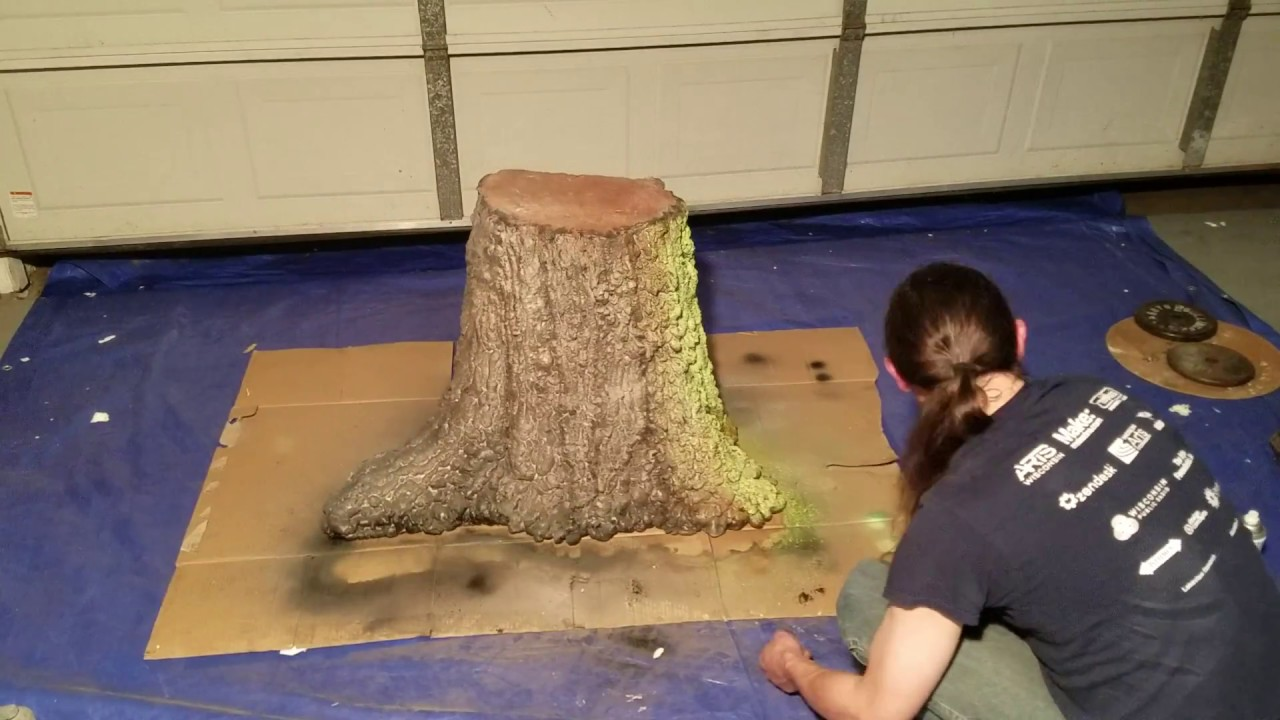 Foam Tree Stump Prop Build Part 3