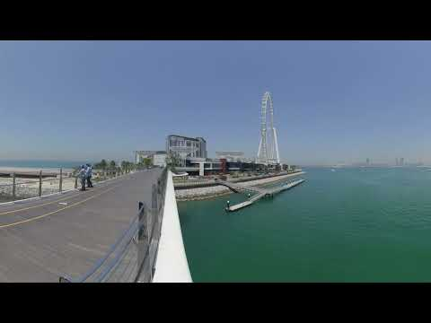 [360] UAE, Dubai, Dubai Marina, JBR, Bluewaters Island, Insta360 Evo