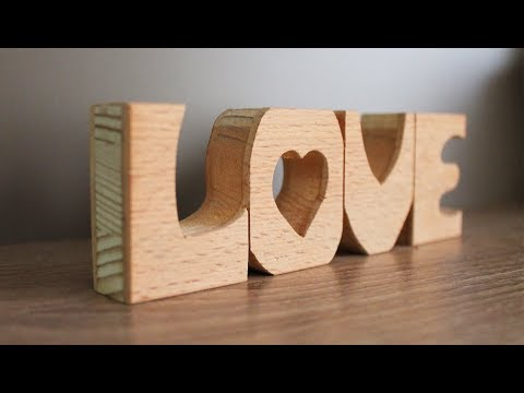 DIY Wooden Letters - Home Decor Ideas