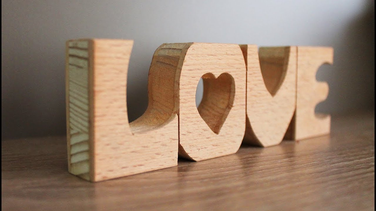 Diy Wooden Letters Home Decor Ideas