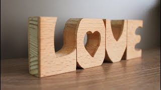 DIY Wooden Letters - Home Decor Ideas