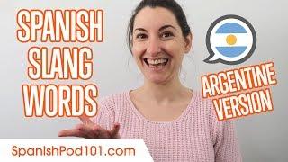 Argentine Spanish Slang Words