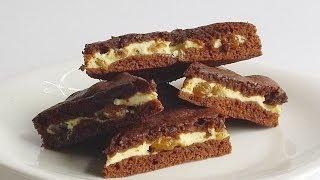 Бисквитное Шоколадное Печенье с Творожной Начинкой кулинарный видео рецепт