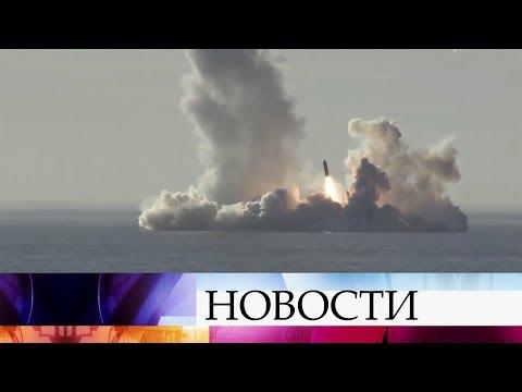 Крейсер «Юрий Долгорукий» произвел успешный пуск четырех ракет «Булава».