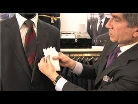 how to wear a handkerchief in a suit pocket