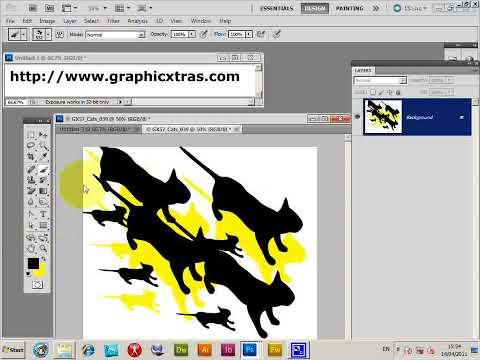 PDF designs as Photoshop brushes (CS5 CS4 CS3 CS2 etc) tutorial