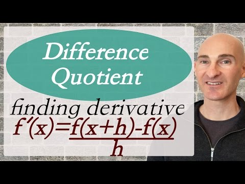 Difference Quotient to Find Derivative