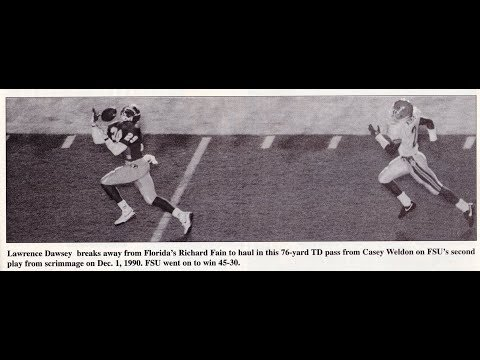 1990 Seminoles Lawrence Dawsey bomb from Casey Weldon vs UF
