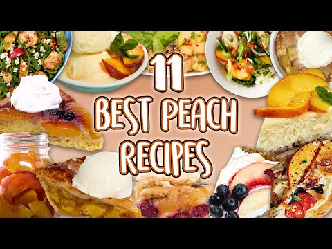 11 Best Peach Recipes | Peaches Recipe Compilation | Well Done