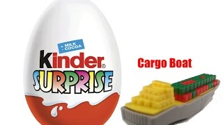 Boys toys ship with cargo from opening toto surprise eggs for boys
