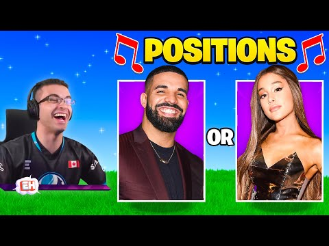 Nick Eh 30 reacts to Guess the Song in Fortnite!