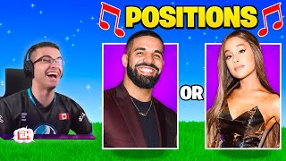 Nick Eh 30 reącts to Guess the Song in Fortnite!