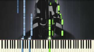 Star Wars - The Imperial March (Darth Vader's Theme) - Piano tutorial (Synthesia)