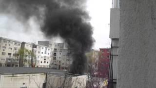 Incendiu ghena Mihai Bravu/Ploiesti