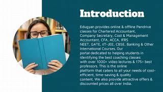 CA Online Google Drive | Pen Drive Classes - Edugyan