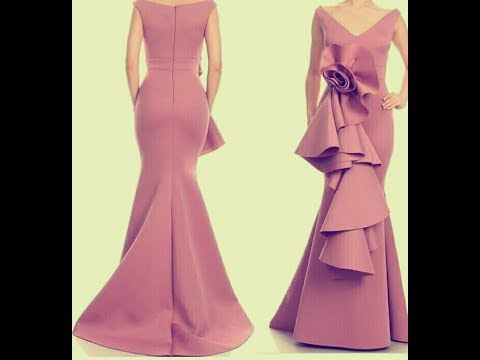 how to cut this A-line gown with the peplum/simple DIY