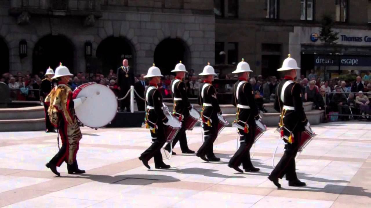 The skye boat music hm royal marines band mini military for Square city tattoo