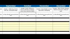 SRB Solutions Annual Marketing Calendar Tutorial