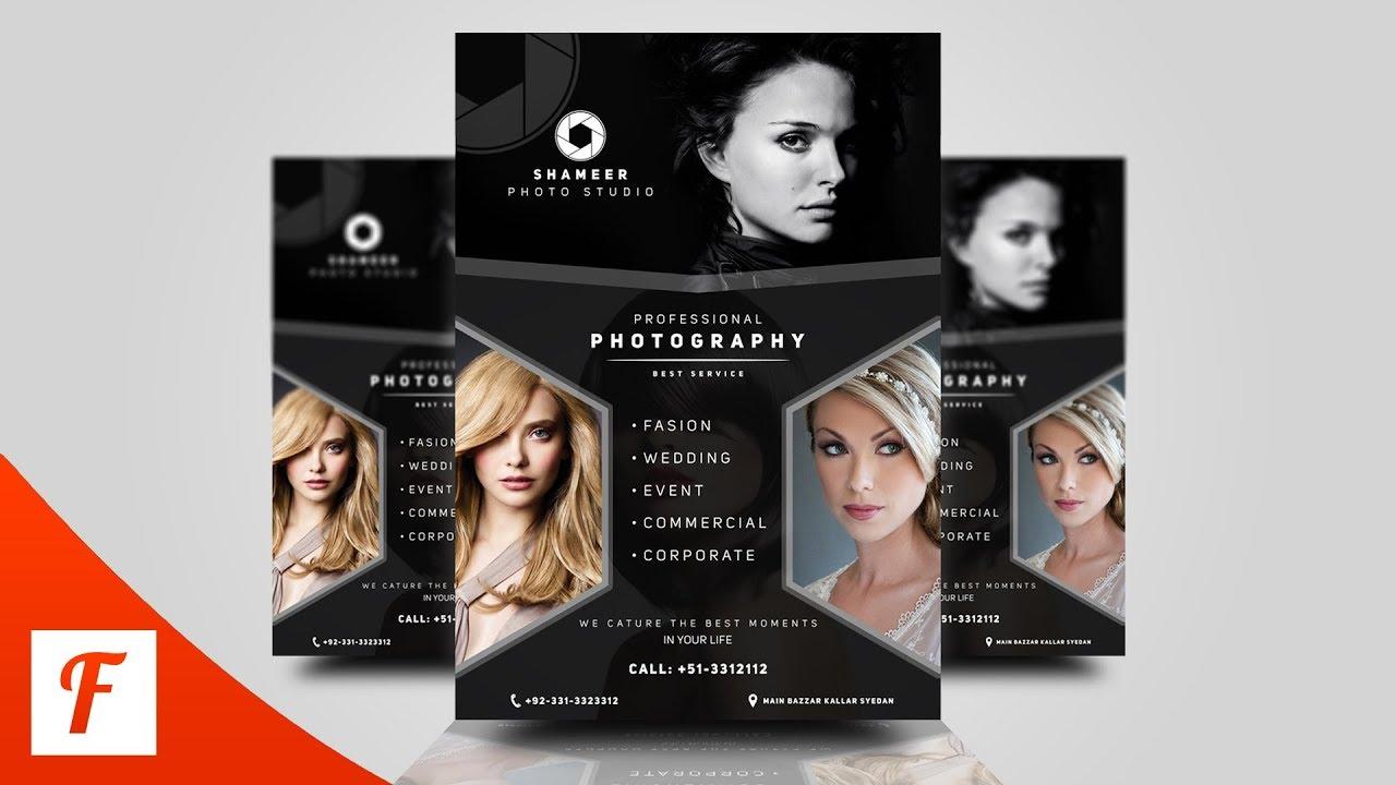 Photoshop Tutorial - Creative Photography Flyer Design