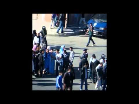 ملخص بالإنجليزية وتعليق سياسي لكاتب لحسن بولسان في مظاهرات الثلاثاء أثناء تواجد وفد المفوضية