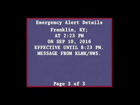 EAS - Severe Thunderstorm Watch issued - 2:27pm 9/10/2016