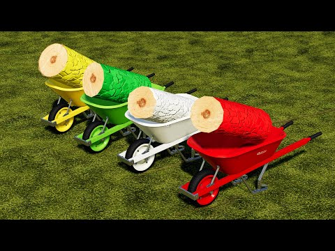 Farming Simulator 19 : COLORED TREES vs WHEELBARROW |