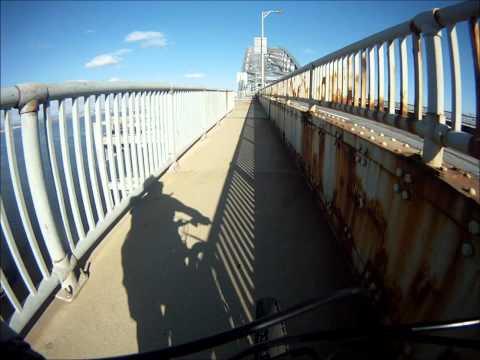 Bayonne Bridge by Bicycle - GoPro Hero HD