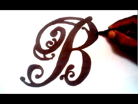 drawing a fancy letter b