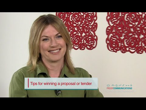 How to write a Winning Proposal or Tender | Proof Communications