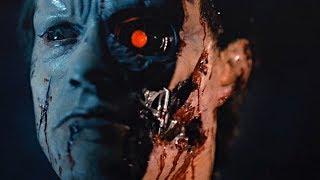 """Сцена погони терминатора за Сарой и Кайлом. Фильм """"Терминатор"""". 1984 год"""