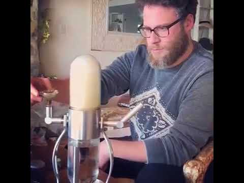 Seth Rogen Smokes From Amazing Gravity Bong!