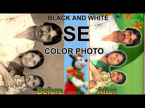 How to change black and white into color Photo in Adobe Photoshop