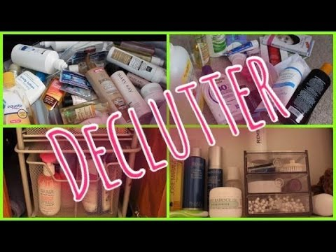 DECLUTTER | Bathroom Beauty Products