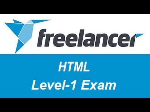 Freelancer.com HTML Level-1 Test Answers