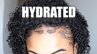 transform dry brittle natural hair to super hydrated curls
